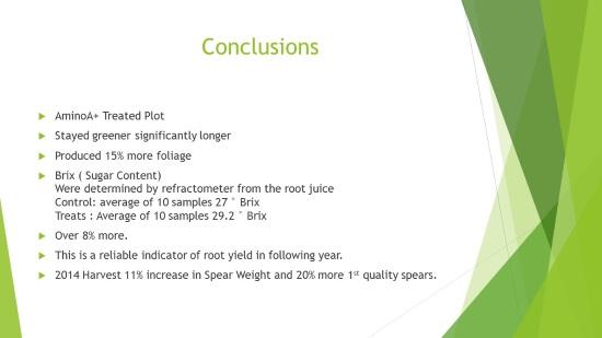 AminoA Trial Results Asparagus 2014