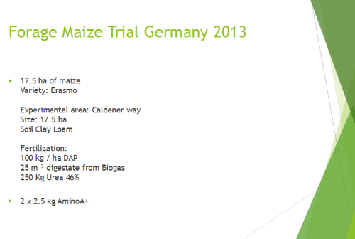 Maize Trial Germany 2013