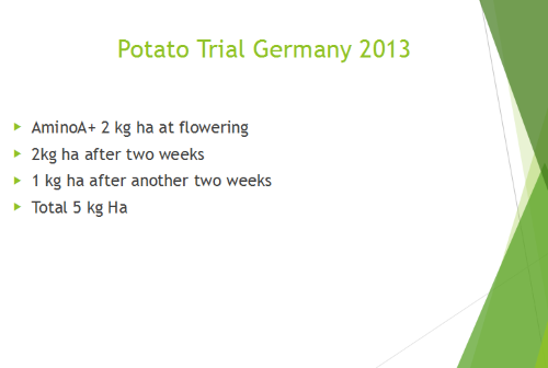Potato Trial Germany 2013