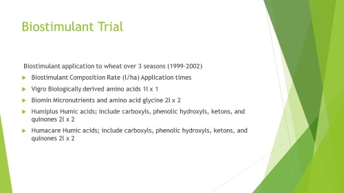Wheat Biostimulant Trial
