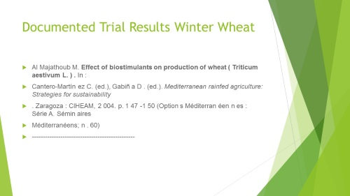 Winter Wheat Documented Trials